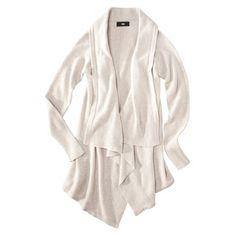 Target   $29.99  Mossimo® Women's Drape Cardigan Sweater - White Colors XXL