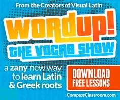 Awesome, fun, engaging Greek and Latin roots vocab program, brand new!! #homeschool #hsmom #greek #latin #classicaled @compassclass