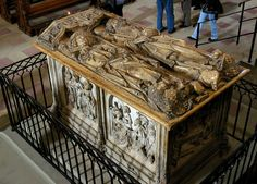Emperor Henry II and Empress Cunigunde tomb by Tilman Riemenschneider.  Located in the  Bamberg Cathedral