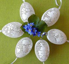 BJGoleń- ażurowe Wielkanocne pisanki ażurowe - ażurowe pisanki wielkanocne z naturalnych wydmuszek jaj gęsich