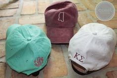 Monogrammed Hat with State Outline by CoastCouture on Etsy, $20.00