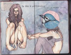 Art Journal 6 pages 25-26 by PattyDrawsDandelions, via Flickr