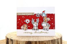 Hey there! Lawn Fawn inspiration week continues! Today, we're showing off the crittery holiday set, Cheery Christmas .     I went for a pun...