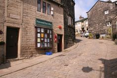Hello Tony!    Heptonstall Post Office, and the walk up the cobbles...
