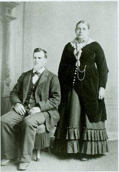 Mr. and Mrs. Joe Davis, early Binghamton, California settlers. DPL Archives #2007.18.172