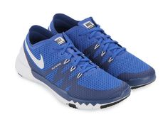 Free Trainer 3.0 V3 by Nike. Shoes are designed specifically to support training activities that require high performance. Details cushioning, material mesh and Flywire technology to optimize air circulation and provide maximum comfort. Mesh material with royal blue color and round toe shoes with details front strap. Phylon insole and also rubber outsole. http://www.zocko.com/z/JJQx4