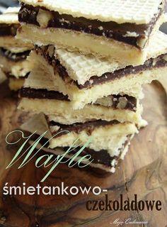 Wafle smietankowo-czekoladowe