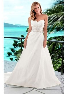 ROMANTIC A-LINE SWEETHEART TAFFETA WEDDING DRESS FOR YOUR BEACH WEDDING LACE BRIDESMAID PARTY COCKTAIL EVENING GOWN