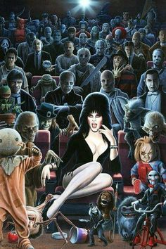 Such a cool horror collage