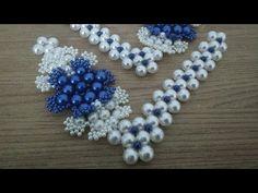 Cabedal de renda francesa rendado - YouTube Beaded Necklace, Beaded Bracelets, Cross Stitch Designs, Flip Flops, Ciabatta, Jewelry Making, Embroidery, Pearls, Crochet