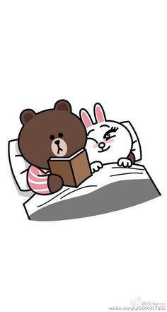 Brown & Cony Cute Good Night, Good Night Gif, Cute Love Gif, Cute Cat Gif, Cony Brown, Brown Bear, Cute Couple Cartoon, Cute Cartoon, Bear Gif