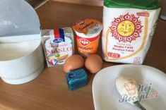 Příprava receptu Šumavské pagáče ze smetany bez kynutí, krok 1 Dairy, Eggs, Cheese, Breakfast, Food, Morning Coffee, Essen, Egg, Meals