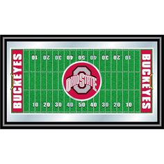 Trademark Global, Inc. Ohio State Framed Football Field Mirror