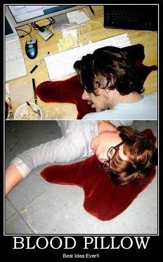 lol! meet the blood pillow