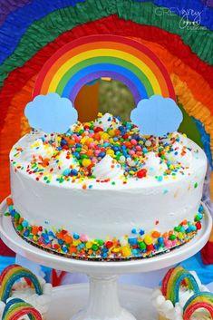 The birthday cake at