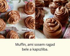 A muffin, ami soha nem ragad bele a papírkapszliba párizsi krémmel Chocolate Muffins, Cake Recipes, Food And Drink, Cupcakes, Baking, Drinks, Eat, Desserts, Chocolate Chip Muffins