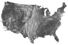 (Almost) real time wind map is very cool.  Plus, I think I see the face of Chewbacca!