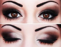 Eyes makeup inspiration #dark #brown #smokey #eyes