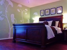 Designs on master bedroom wall