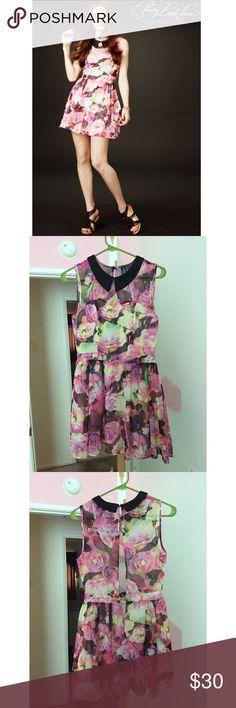 Pretty Little Liars Hanna Floral Chiffon Dress Worn once. By aeropostale Aeropostale Dresses Mini