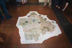 Tentoonstelling 2015: Graven in Ouwen! Eén eeuw archeologie.  Via een kaart konden de bezoekers opzoeken waar er gegraven werd in Grobbendonk gedurende een hele eeuw.