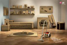 LG Vacuum Cleaner: Bedroom       Your home clean as new.     LG K2 Kompressor Vacuum Cleaner.  Advertising Agency: Y, São Paulo, Brazil