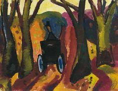 Gerrit Benner (1897-1981) was een Nederlands schilder. Hij leerde Siep van den Berg en zijn vrouw Fie Werkman kennen en kwam zo in aanraking met het werk van Hendrik Werkman, waardoor hij korte tijd werd beïnvloed. Ook vond hij inspiratie bij de kunstenaars van de Ecole de Paris zoals Bazaine, Soulages en Manessier. Zijn werk heeft raakvlakken met Cobra en De Ploeg. - Laan met koetsje