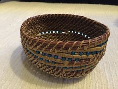 50 Ocean Currents.  ( Pam Talsky class)  My first pine needle basket.