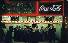 Ruth Orkin. Famous Malted Milk c1950 NYC