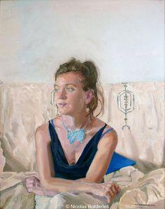 Floriane, oil on canvas, 92 x 73 cm, 2012.
