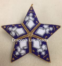 Dragons Lair Beads Beaded Stars - patterns