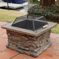 Best Selling Home Decor 237673 Corporal Square Fire Pit