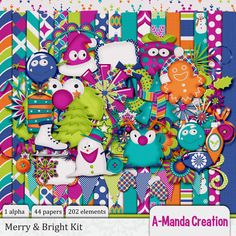 Christmas in July Merry & Bright is fun and funky and it's 50% off!