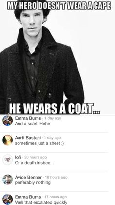 The Sherlock fan base on Pinterest is my favorite thing.