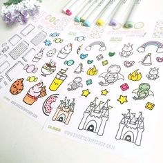 Color in your Sweet Stamp Stop Sticky Sweet stickers with Copic Markers to make your stickers extra Sweet !