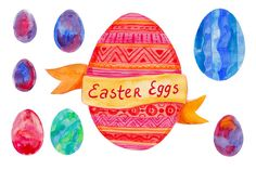 Check out Easter Egg watercolor set by natsa on Creative Market