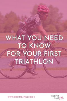 First Triathlon? How To Get Into Triathlon - keep it simpElle Swim Technique, Learn To Swim, I Can Do It, Triathlon, Need To Know, Get Started, Infographic, Health Fitness, Swimming