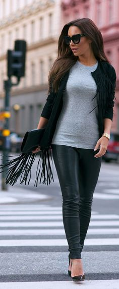 Black And Grey Chic Style by Johanna Olsson