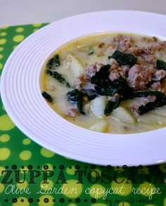This Zuppa Toscana tastes just like the Olive Garden recipe!