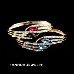 designer de jóias de encanto 18k liga de ouro chapeado colorido de cristal austríaco rhinestone cheio pulseiras e braceletes p...
