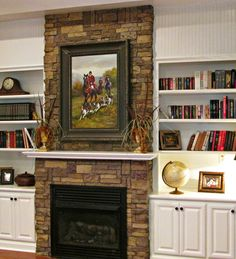 Refacing a fireplace with AirStone. Blog entry from 1800 Farmhouse Rd : Finally, A Stone Fireplace
