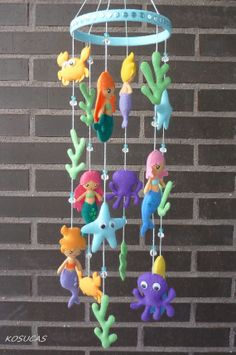 Felt mobile with mermaids. por Kosucas en Etsy, €50.00