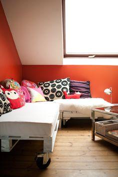 DIY - palet sofa / canapé en palettes