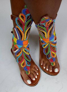 Beaded Shoes, Beaded Sandals, Cute Sandals, Flip Flop Sandals, Flip Flops, Summer Sandals, Beautiful Sandals, Afro, Summer Accessories