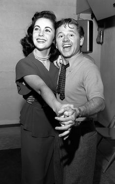 Elizabeth Taylor and Mickey Rooney