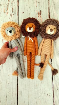 Crochet Toys Patterns, Amigurumi Patterns, Stuffed Toys Patterns, Crochet Dolls, Crochet Lion, Crochet Animals, Baby Boy Gifts, Baby Boy Toys, Baby Boy First Birthday