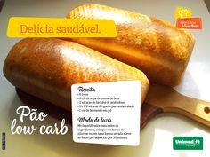 Pão com baixo carboidrato. Delicioso e saudável. Veja a receita fácil. Alimentação saudável. #esseéoplano #unimedmanaus