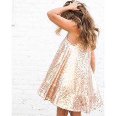 Lauren Conrad's Runway Collection Sequined Swing Dress in Rose Gold // so pretty!! i think i would get this in an 8?? maybe even a 10 or 12. who knows