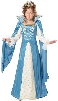 homemade halloween costumes for girls age 10-12 | Home >> Queen Costumes >> Renaissance Queen Kids Costume