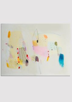 Abstract painting yellow art modern art wall art giclee